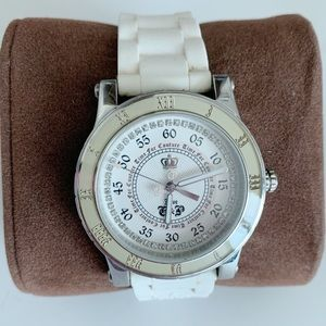 Juicy Couture White Rubber Dial Watch